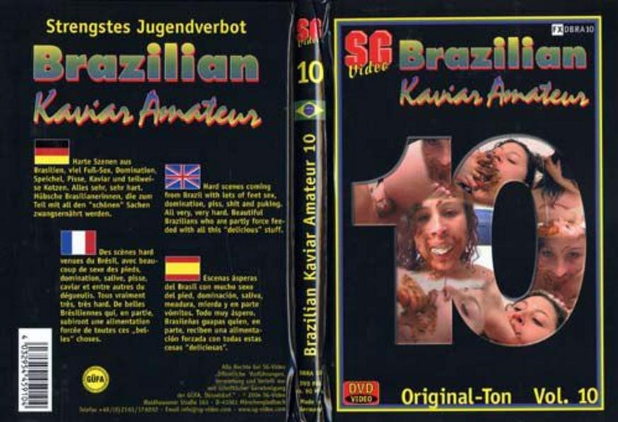 Brazilian Kaviar Amateur 10 - Sex With Scat Girls (2018) [DVDRip AVI Video XviD 640x480 29.970 FPS 1610 kb/s / avi]
